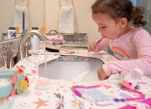 SPLASHPAD® Bathroom Sink Splash Guard - Unicorns