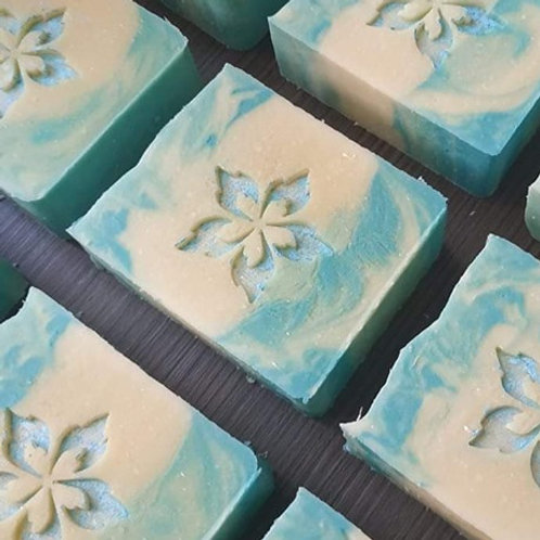 "Fire flower soap stamp - footprint: 1.41"" x 1.41"" (36mm x 36mm)"