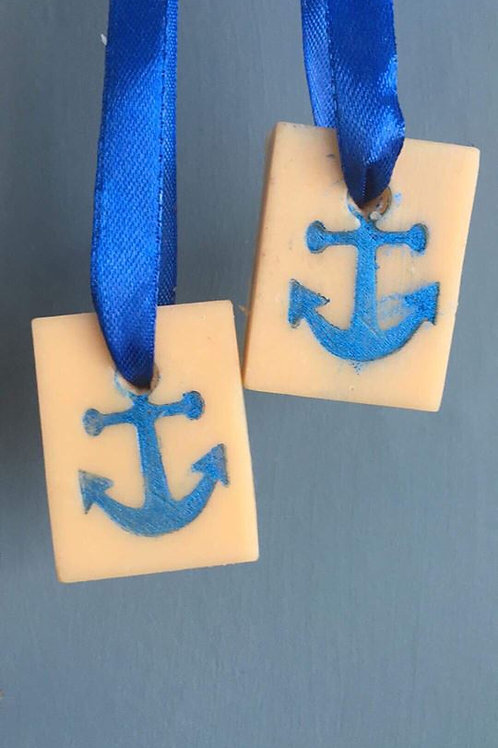 "Anchor / Marine Soap Stamp - footprint: 0.86"" x 1.06"" (22mm x 27mm)"