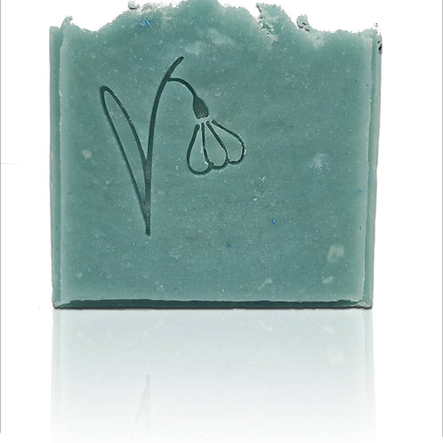 SnowDrop Soap Stamp - Fits into popular oval mould