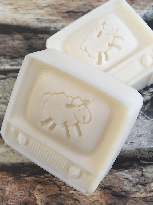 Curly Sheep Soap Stamp - Fits into popular oval mould