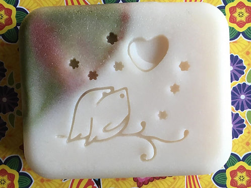 "A Night in Love Soap Stamp - Footprint  1.81"" x 1.65"" (46mm width x 42mm height)"