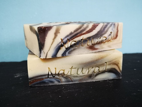 Natural text soap stamp - 55mm x 10mm