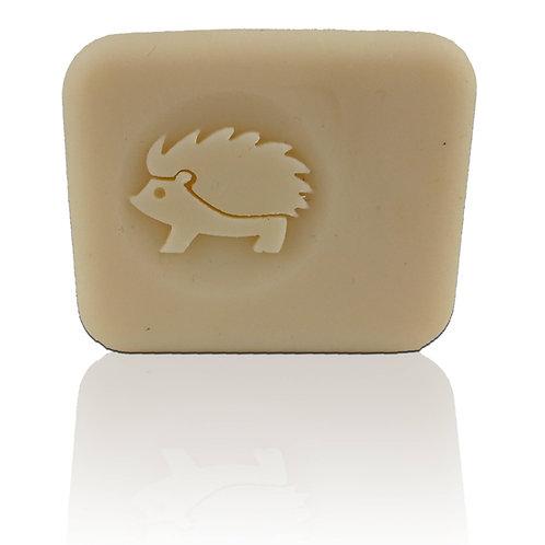 "3D Hedgehog Soap Stamp - Footprint: 1.57"" (40mm) diameter"