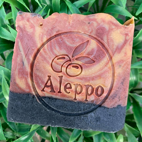 """Aleppo with Olives Soap Stamp - footprint: diameter 1.96"""" (50mm diameter)"""