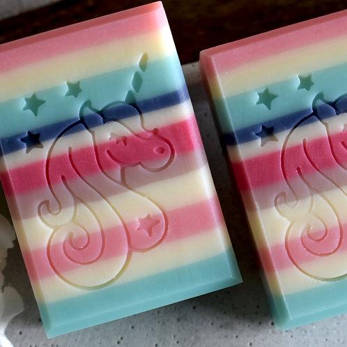 """Unicorn Soap Stamp - footprint 1.61"""" x 2.01""""  (41mm width x 51mm height)"""