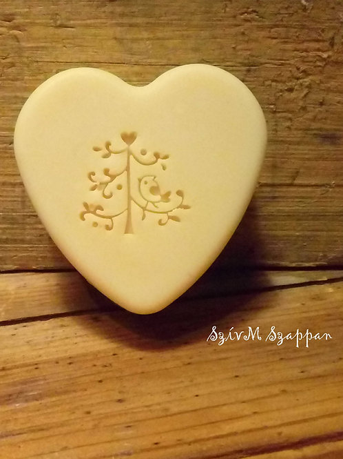 Oval Tree with Birdie Soap Stamp - Fits into popular oval mould