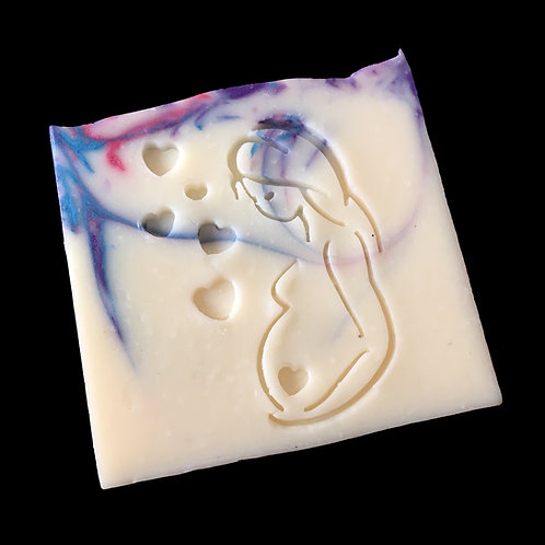 "Mommy / Expecting soap stamp -footprint 1.65"""" x 2.2"" (42mm width x 57mm height)"