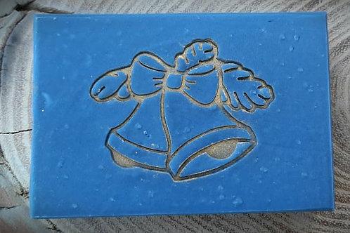 "Christmas Bells Large Soap Stamp - Footprint  2.12"" x 1.65"" (54mm x 42mm)"