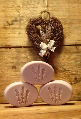 4x4 Lavender Soap Stamp