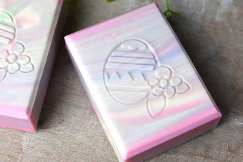 """Easter Egg Soap Stamp - footprint 1.65"""" x 1.93 (42mm width x 49mm height)"""
