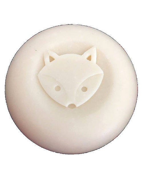 "Cute Fox 3D Soap Stamp - 1.57"" (40mm) diameter"