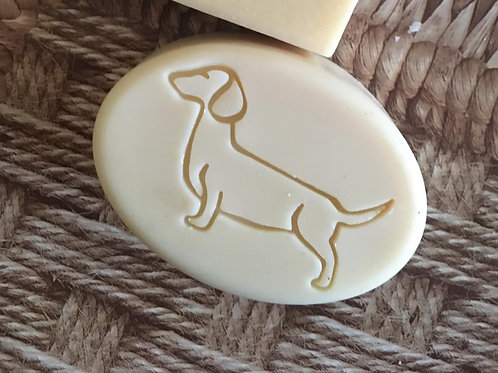 "Dachshund Soap Stamp - footprint 2"" x 1.26"" (51mm x 32mm)"