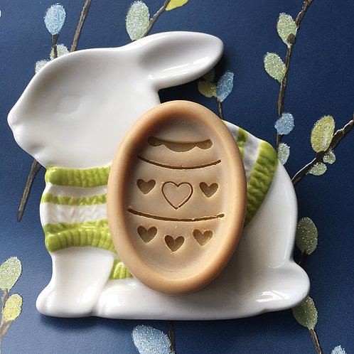 """Easter Egg Soap Stamp - Footprint: 0.9""""x1.78"""" (23mm width x 46mm height)"""