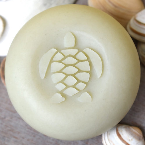 "3D Turtle Soap Stamp - 1.57"" (40mm) diameter - with fixed univers"