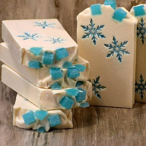 "Snowflake small Soap Stamp - footprint: 0.945"" x 1.1"" (24mm x 28mm)"