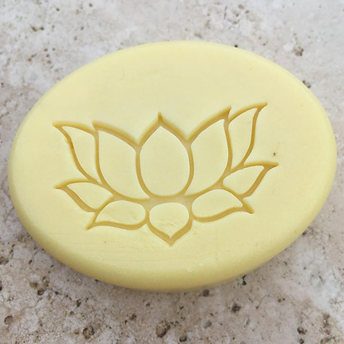 "Large Lotus Flower Soap Stamp - footprint: 2"" x 1.22"" (51mmx31mm)"