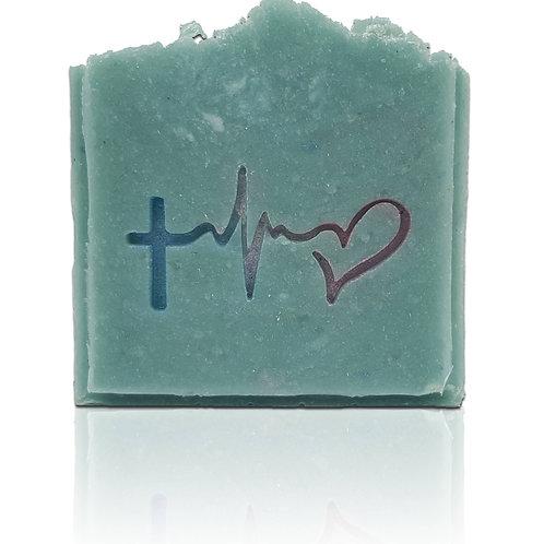 "Hope Faith Love Soap Stamp - Footprint 1.97"" x 1.03"" (50mm x 26mm)"