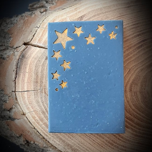 "Christmas Stars Corner Soap Stamp - Footprint  2"" x 2"" (51mm width x 51mm)"