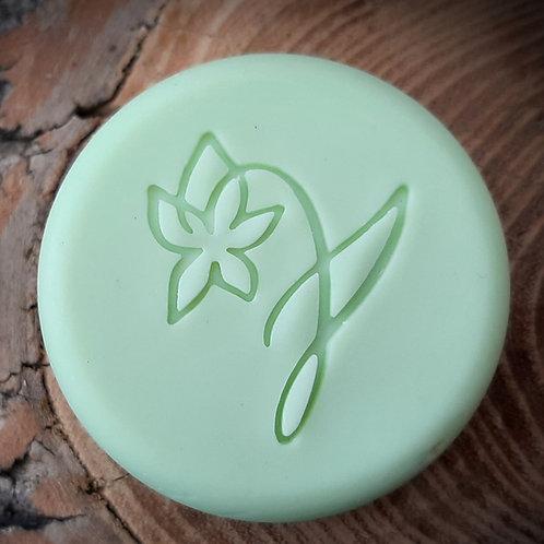 """Drawn Series Daffodil Flower Soap Stamp -footprint:  1.38"""" x 1.65"""" (35mm x 42mm)"""