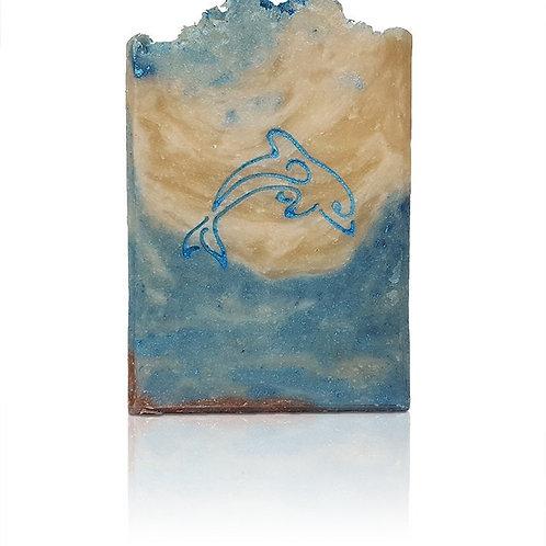 "Dolphin Soap Stamp - footprint: 1.42"" x 1.14"" (36mm x 29mm)"
