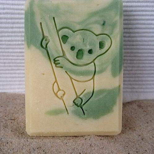"""Koala on Tree Soap Stamp - footprint 1.65"""" x 2.28"""" (42mm x 58mm)"""