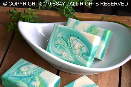 Large Aloe Vera Soap Stamp -  with universal handle