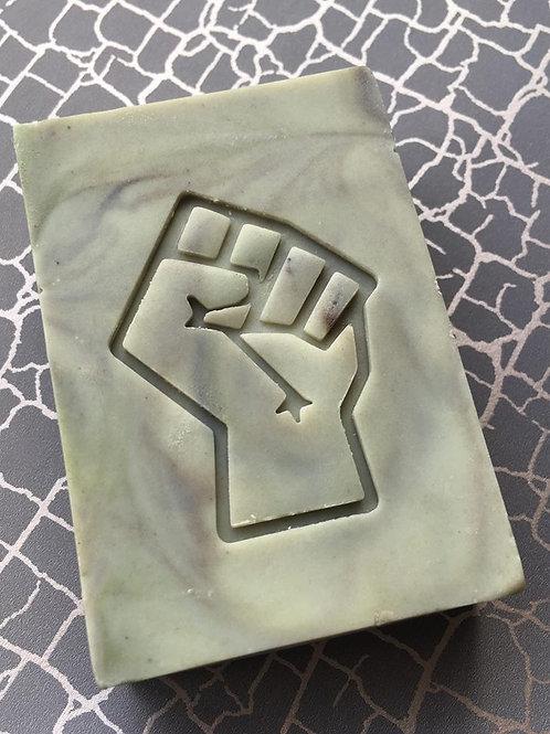 """Fist design1 Soap Stamp - footprint 1.57"""" x 2.05"""" (40mm width x 52mm height)"""