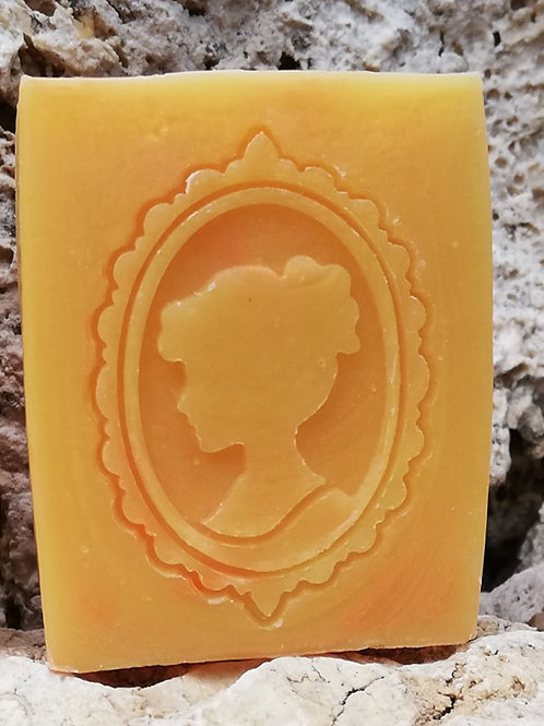 """Double Frame Lady Soap Stamp - Footprint  1.69"""" x 2.4""""(43mm width x 61mm height)"""