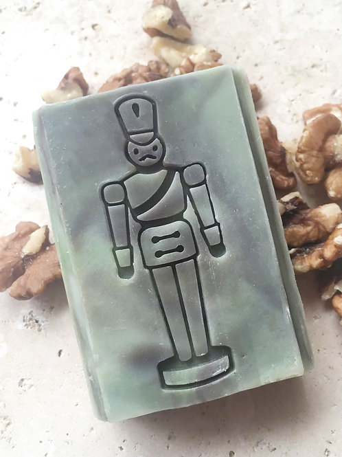 "Large Tin Soldier Soap Stamp - footprint 1.02"" x 3.62"" (26mm x 92mm)"