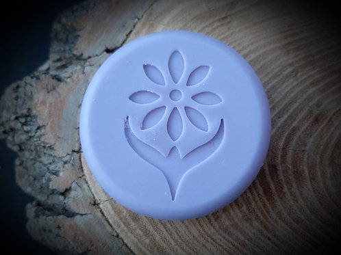"Simply Flower Soap Stamp - footprint (1.29"" x 2.0"") - 33mm x 51mm"