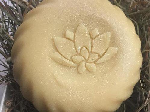 "3D Lotus variation Soap Stamp - 1.57"" (40mm) diameter"