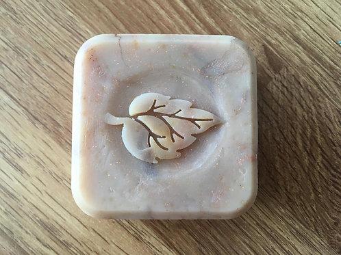 """3D Leaf Soap Stamp - Footprint: 1.57"""" (40mm) diameter"""