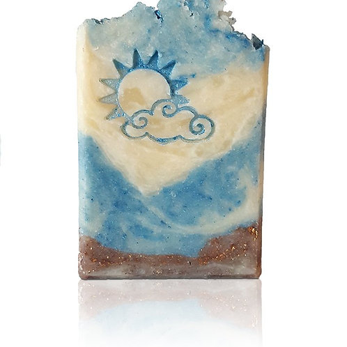 "Sunny or Cloudy Soap Stamp - footprint: 1.46"" x 1.14"" (37mm x 29mm)"