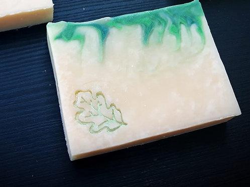 """Small Leaf Soap Stamp - footprint: 0.75"""" x 1.02"""" (19mm x 26mm)"""