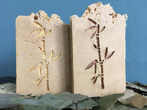 "Bamboo Soap Stamp - Large Vertical footprint 1.34"" x 2.99"" (34mm x 76mm)"