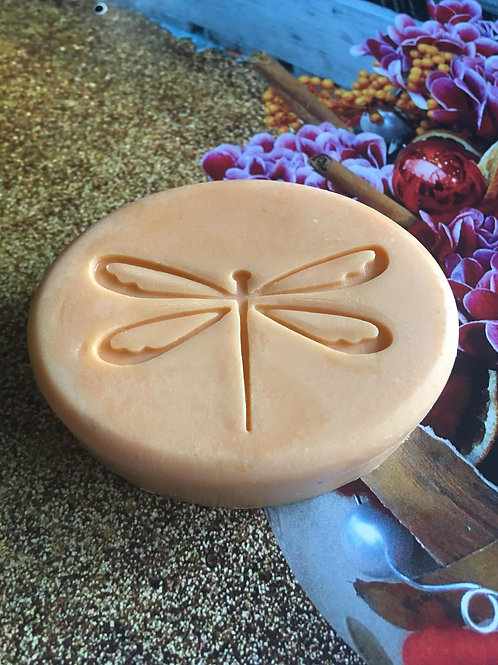 "Large Dragonfly Soap Stamp - footprint: 2.09"" x 1.31"" (53mm x 34mm)"