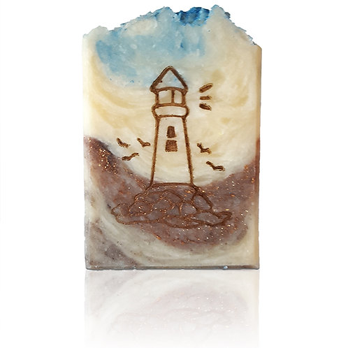 "Lighthouse Design Stamp - footprint 1.57"" x 2.13"" (40mm x 54mm)"