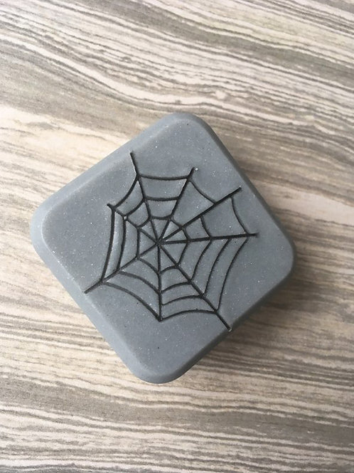 "Spider Web Soap Stamp - footprint 1.49"" x 1.51"" (38mm width x 39mm height)"