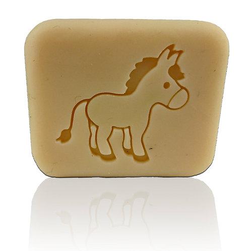 """Cute Donkey Soap Stamp - Footprint 1.85"""" x 1.69"""" (47mm x 43mm)"""