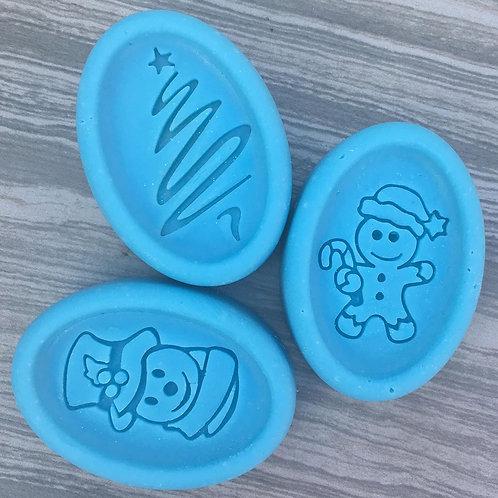 3pcs Christmas Bundle Soap Stamp