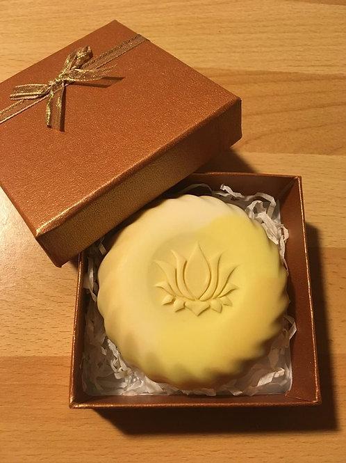 """3D Stamp - Lotus - 1.57"""" (40mm) diameter"""