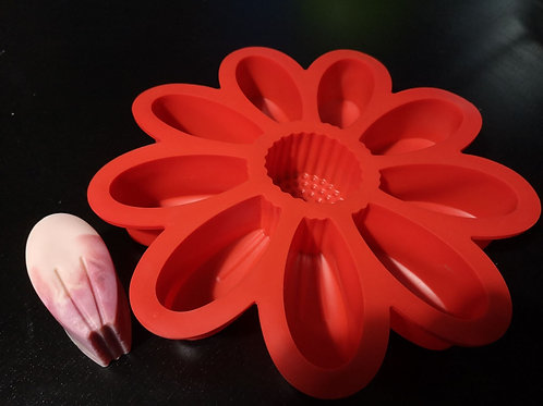 Flower Silicone Mould - 9+1 cavities