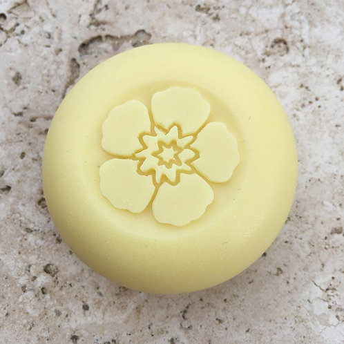 "3D Primrose Soap Stamp - 1.57"" (40mm) diameter - with fixed univers"