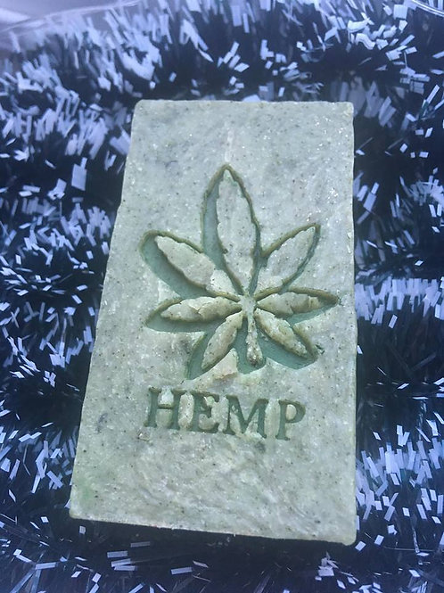 "CBD Large Soap Stamp with ""HEMP"" text  - 1.38' x 1.69' (35mmx43mm)"