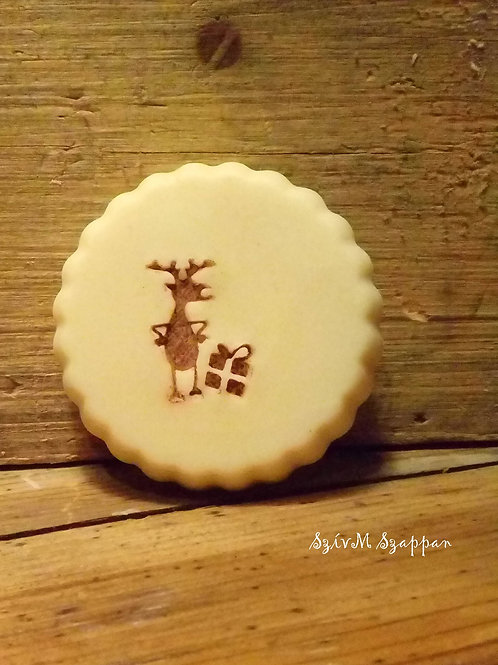 Oval Raindeer Soap Stamp - Fits into popular oval mold