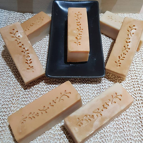 Soap Side stamp flower chain pattern - no handle needed - footprint 17mm x 58mm