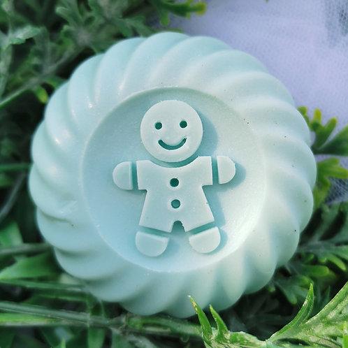 "3D Gingerbread Man Stamp - Footprint: 1.57"" (40mm) diameter - Upgraded version"
