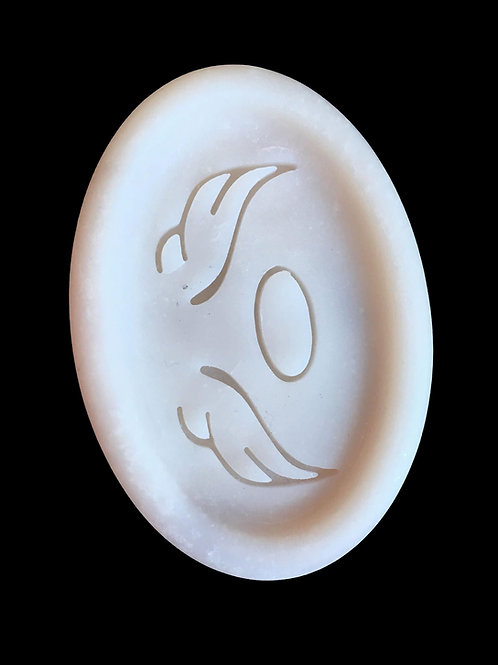"Angel Wing Soap Stamp - footprint: 1.73"" x 0.83"" (44mm x 21mm)"