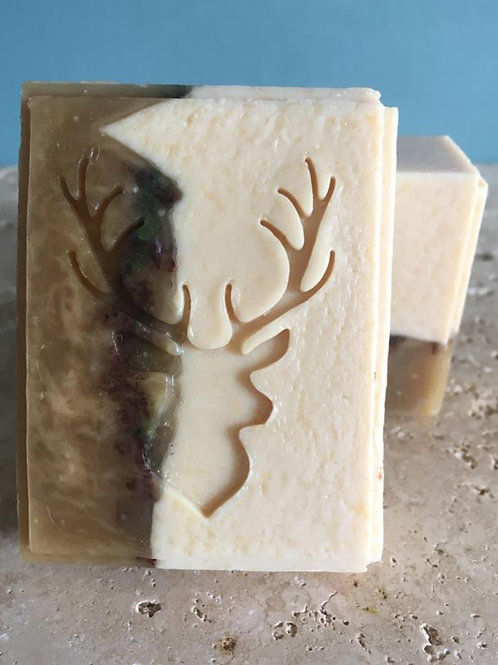 """King of Stags Soap Stamp - footprint 1.53"""" x 2.05"""" (39mm width x 52mm height)"""